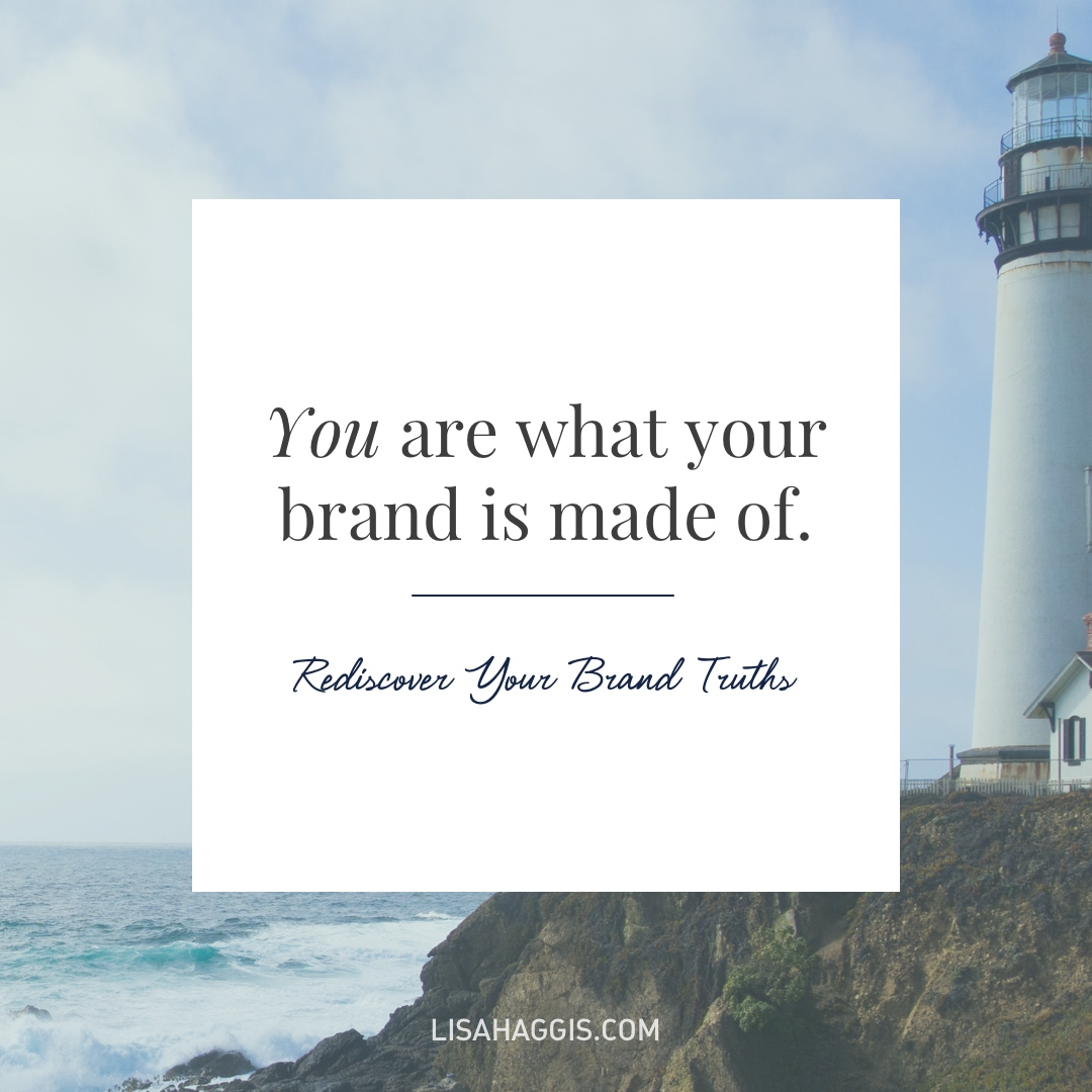 Does your brand truly represent who you are? Free mini workshop via @lisahaggis.